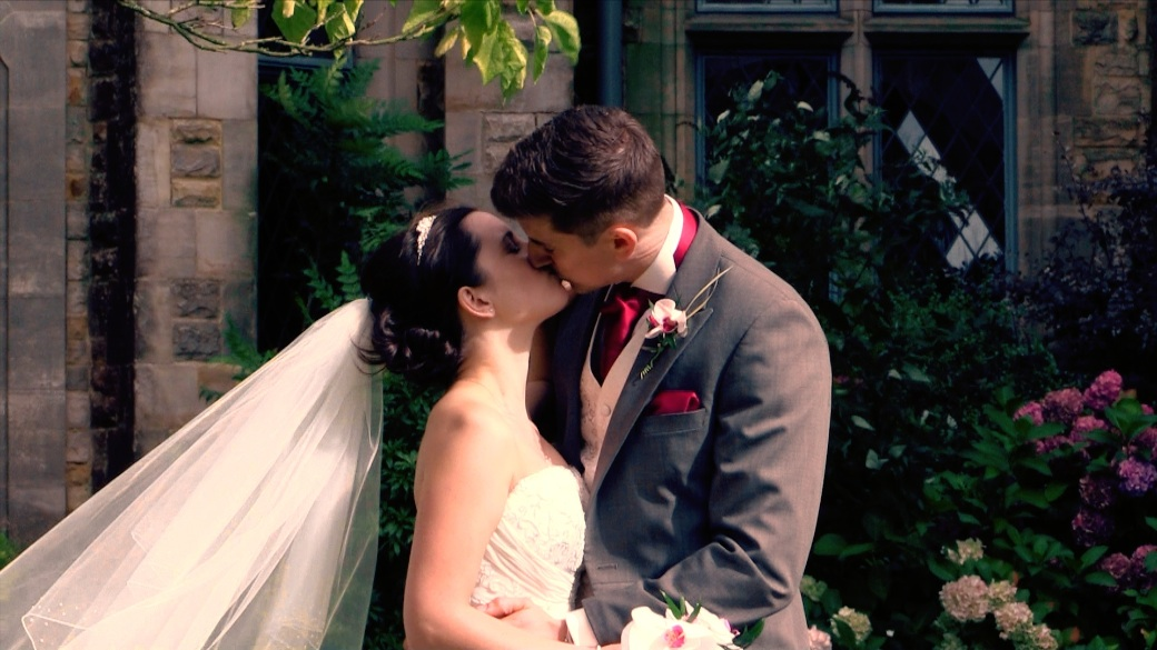 Graham and Sohpie caught kissing at their wedding, Ashdown Park