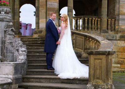 Abi and Ed on the Hever Castle Loggia Steps