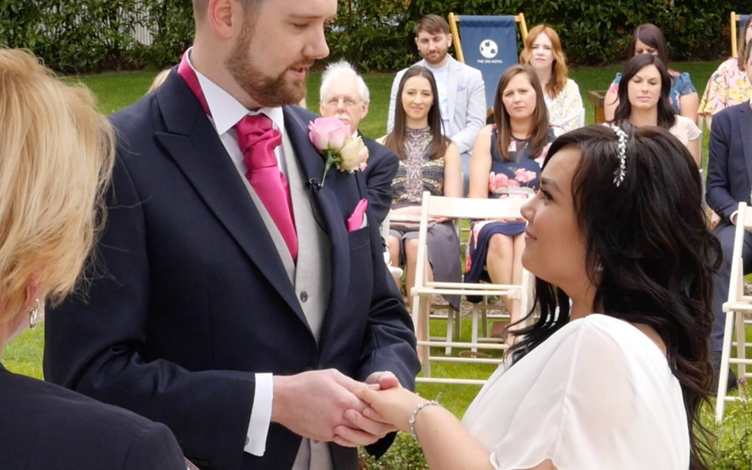 Mimi and Chris get married at The Spa Hotel