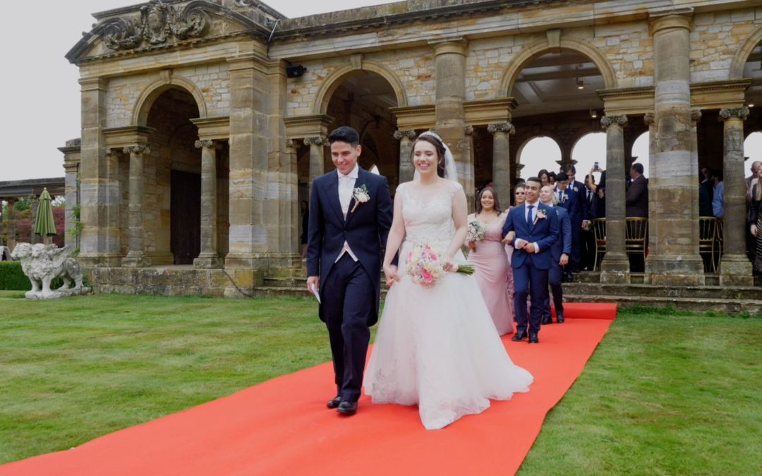 Ingrid and Matheus got married at Hever Castle